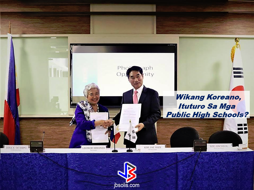 The Korean Embassy in the Philippines and the Department of Education (DepEd) has signed an agreement that will allow DepEd to teach Korean Language in public high schools in the Philippines through Special Program in Foreign Language.  The said agreement as signed on June 21, 2017.  A memorandum of agreement was signed between DepEd Secretary Leonor Briones and Korean Ambassador Kim Jae Shin, together with DepEd Undersecretary for Curriculum and Instruction Dina Ocampo and Korean Embassy First Secretary and Korean Cultural Center Director Lee Jincheol. Under the agreement, DepEd will introduce the Korean language as an elective second foreign language through a program which will start in selected high schools in Metro Manila  SPFL helps learners develop skills in listening, reading, writing, speaking, and viewing which are fundamental in acquiring competence in communication in a second foreign language. Through this program, the Korean Embassy is hoping that the implementation of Korean language will  be strengthened to allow Filipinos to better respond to the local and international employment. They also hope that the program will facilitate the opportunity for selected Filipino students to  study in Korea.  Korean Ambassador Kim reiterated the importance of cultural and educational cooperation in strengthening bilateral relationship between the two countries.      Read More:           How to register online:  1. Go to www.philhealth.gov.ph  2. Fill-out the needed information correctly.   3. You will then receive a confirmation e-mail and your log-in password. Click the link provided in the e-mail and log-in using your details.   4. After clicking the link, you will get a notification that your account is activated and you can now log-in to your Philhealth account.  5.  On log-in, you may need to enter an answer to a security question. It could be  any one of the three answers you provided earlier.   6. Congratulations! You successfully created and activated you