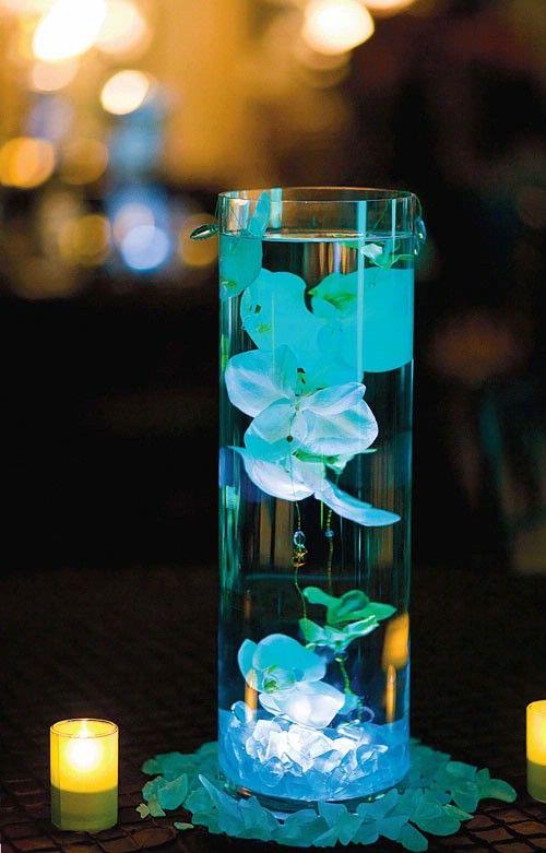 Aprende c mo hacer centros de mesa con velas y flores - Como hacer velas flotantes ...