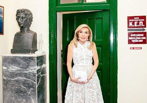 Η Μαριάννα Βαρδινογιάννη δάκρυσε όταν επισκέφθηκε το σχολείο που φοίτησε στην Ερμιόνη
