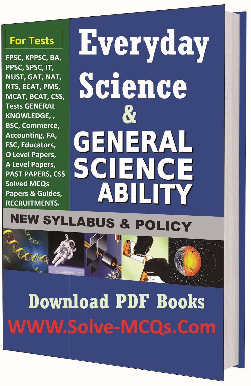 Everyday Science Solved MCQs And Short Notes Book - Solve-MCQs