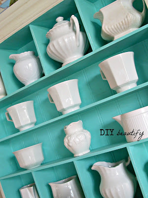 Tiffany Blue and Ironstone www.diybeautify.com