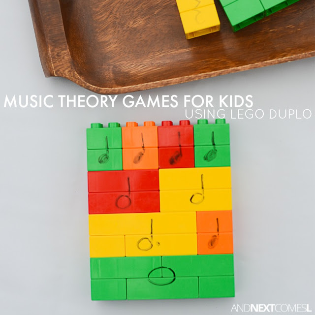 Music theory games for kids using LEGO
