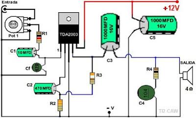 Amplificador de Audio con TDA2003 | Proyectos de Electrónica