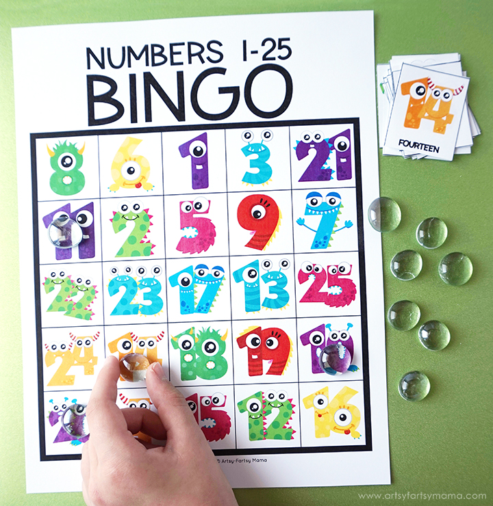 Free Printable Number Bingo is a fun way for kids to work on number recognition for numbers 1-25!