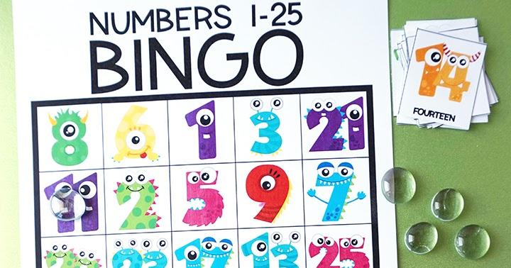 Free Printable Number Bingo Artsy Fartsy Mama