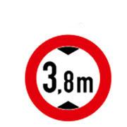 Проезд запрещен автомобилям, высота которых больше 3,8 м