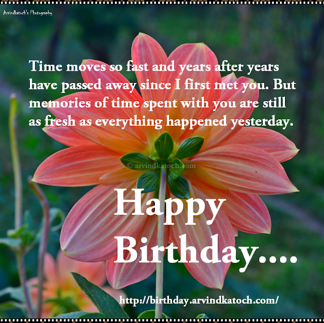 Time, memories, happy birthday, birthday card, HD Card, yesterday