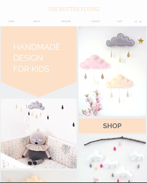 The Butter Flying-mobile nuage-nuage bébé-cloud mobile-nursery mobile-baby mobile-