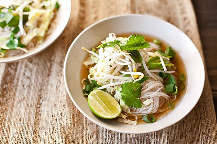 on the menu: vegetarian pho - Sacramento Street