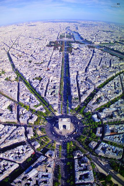 The Champs Elysees. Paris