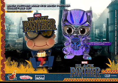 Black Panther Cosbaby Bobble Head Mini Figure Series by Hot Toys x Marvel