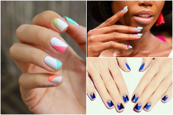 Spring 2017 Nail Trends 2 Color Blocking New Year Designs