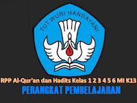 RPP Al-Qur'an dan Hadits Kelas 1 2 3 4 5 6 MI K13 Revisi