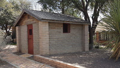 An old jail house located in Pecos Texas.