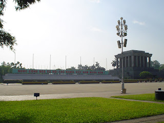 Park in front of the mausoleum of Ho Chi Minh