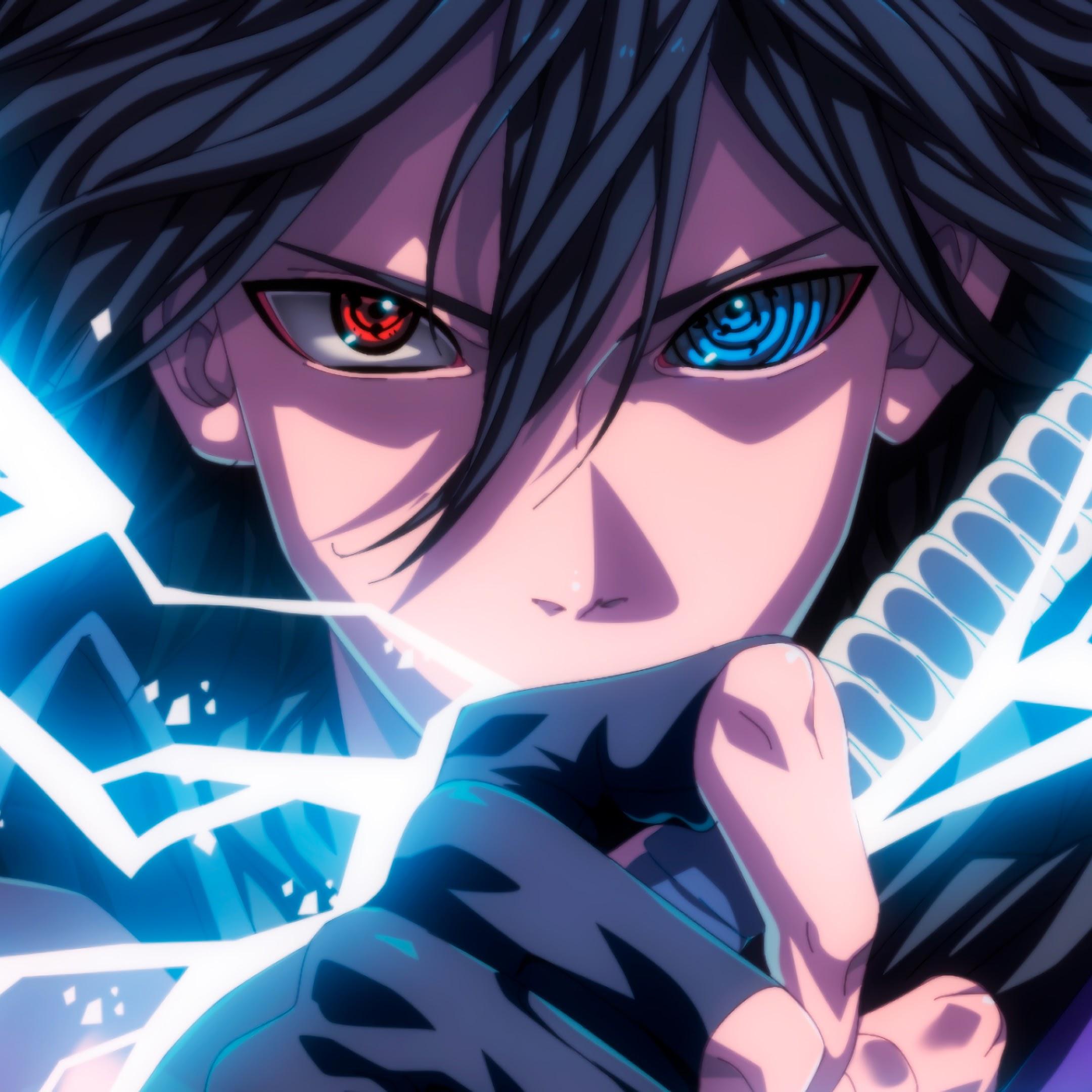 Sasuke, Sharingan, Rinnegan, Eyes, Lightning, 4K, #33