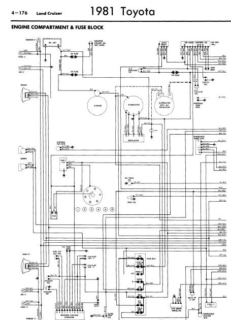 repair-manuals: Toyota Land Cruiser 1981 Wiring Diagrams