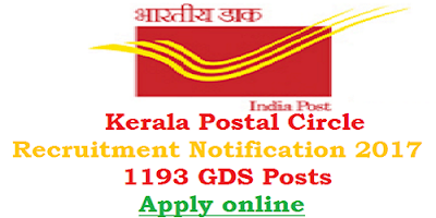 Kerala Postal Circle GDS Recruitment 2017