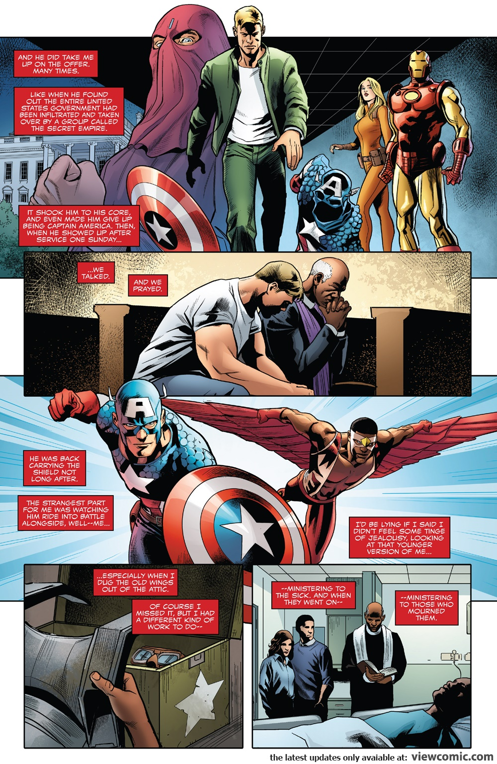 Generations – Sam Wilson Captain America & Steve Rogers Captain