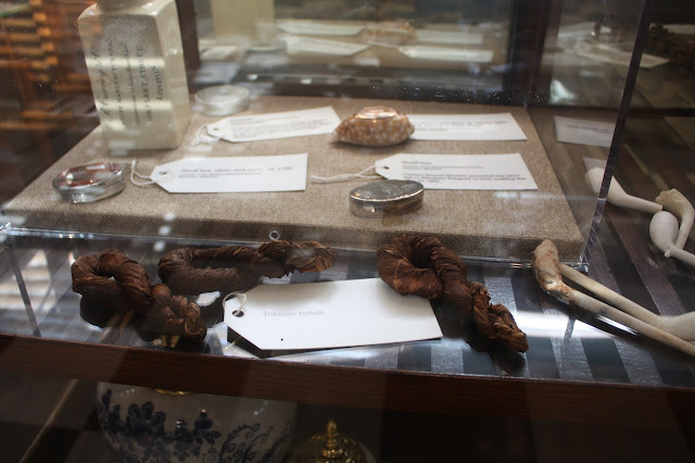 Tobacco braids on display at the Chesapeake Heritage and Visitor Center
