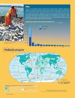 Apoyo Primaria Atlas de Geografía del Mundo 5to. Grado Capítulo 4 Lección 1 Pesca, Producción Pesquera