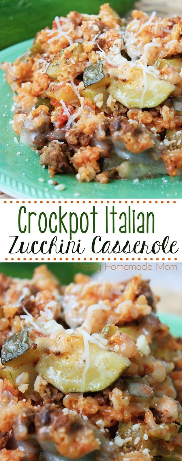 Crockpot Italian Zucchini Casserole slow cooker zucchini casserole