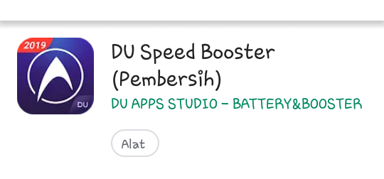 Aplikasi Anti Lemot DU Speed Boster