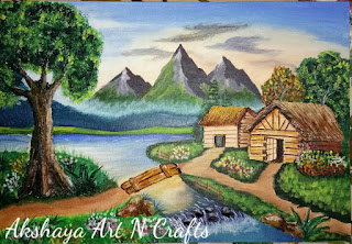 Landscape Clay Mural Painting