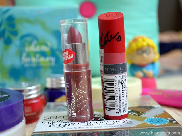 Lipsticks: NYC & Rimmel