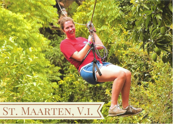 st maarten rainforest ziplining