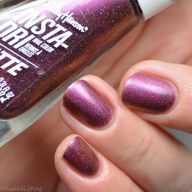 berry duochrome holographic nail polish