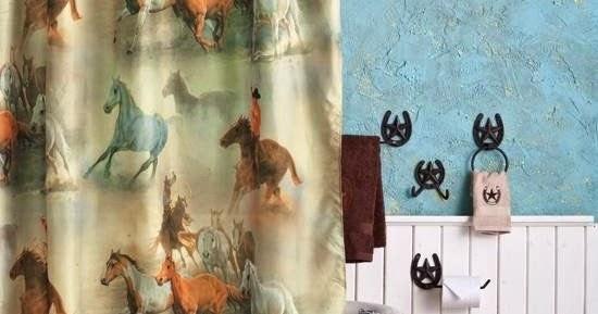Curtain Ideas Western Themed Shower Curtains