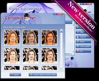 ဓာတ္ပံုေတြကို ကာတြန္းေျပာင္းတဲ့ Image Cartoonizer Premium 1.4.2 Portable For PC
