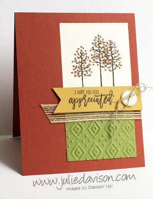 Stampin' Up! Thoughtful Branches Autumn Card -- Limited Edition August 2016 Bundle #thoughtfulbranches #stampinup www.juliedavison.com