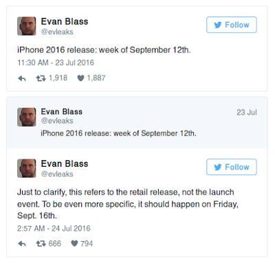 Jadwal Release iPhone 7 Apple