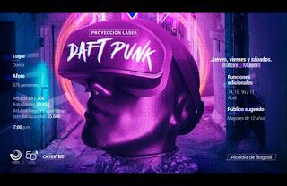 DAFT PUNK ¡Nuevo Show Laser del Planetario de Bogota!