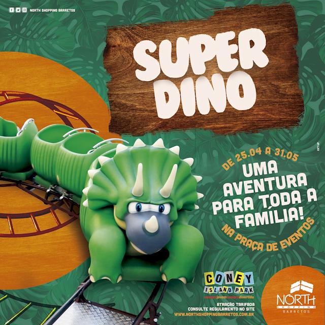 Super Dino garante diversão em família no North Shopping Barretos