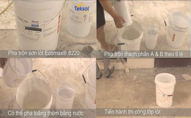 Quy trình thi công sơn epoxy ecomax Teksol