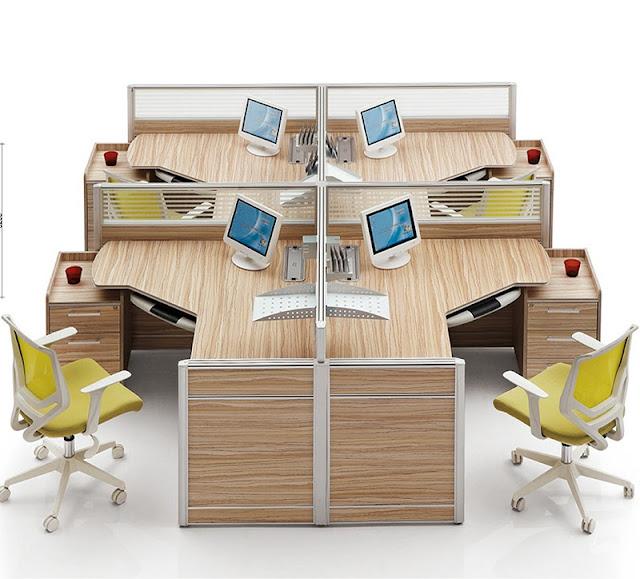 Mẫu bàn làm việc veneer luôn chinh phục doanh nghiệp bởi rất nhiều thiết kế đa dạng