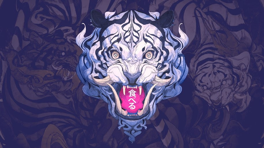 White Tiger, Digital Art, 4K, #103