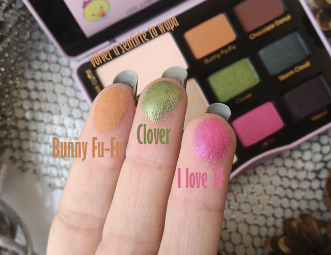 Swatches de la Paleta de Too Faced - Totally Cute