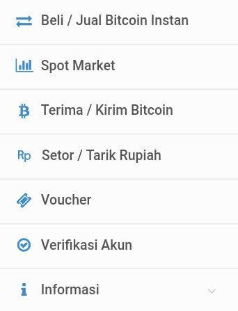 Silahkan Login ke situs VIP Bitcoin, maka ketika anda melihat menu di sebelah kiri anda akan menemukan gambar seperti dibawah ini.
