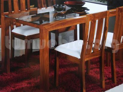 mesa comedor hecho en teca 4139