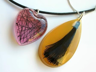 Horse hair pendant / necklace