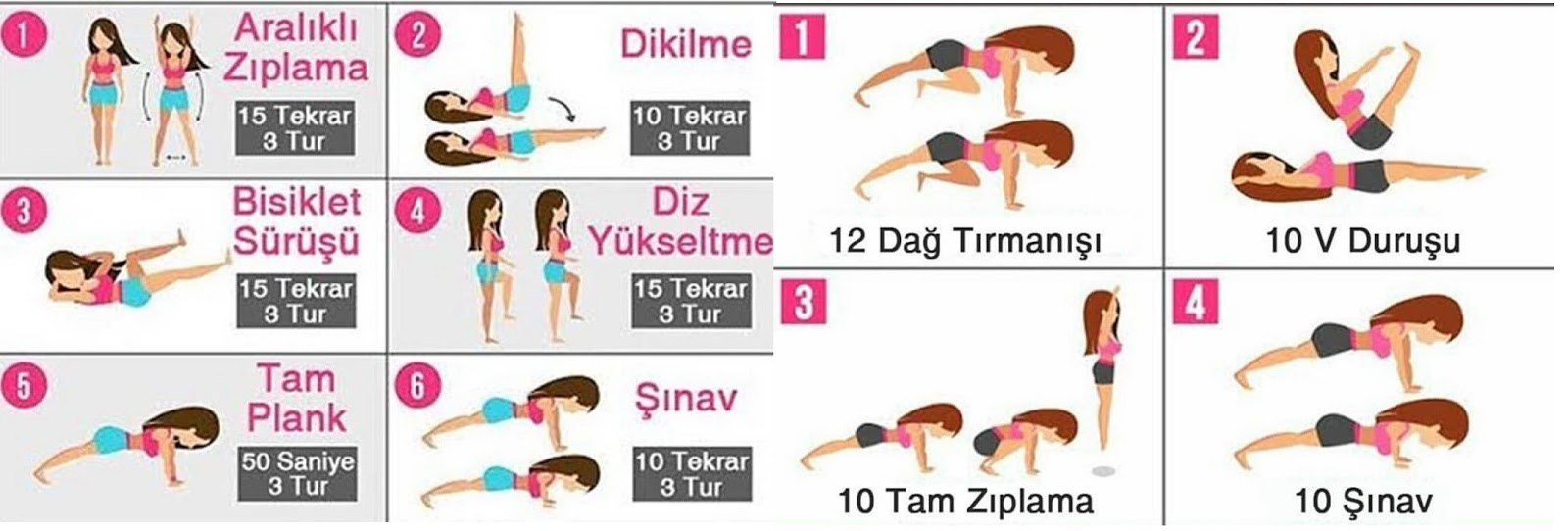 Zayıflama egzersiz haraketleri