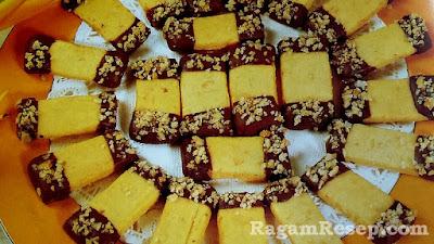 Resep Kue Batang Kenari Coklat