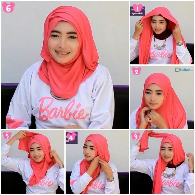 Tutorial Hijab Modern Remaja Cara memakai hijab mod...