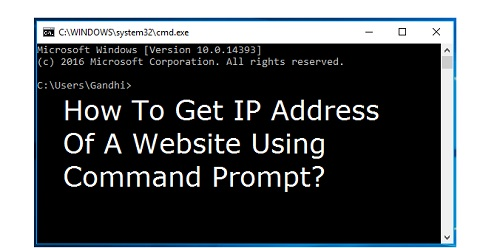 How To Get IP Address Of A Website Using Command Prompt ...