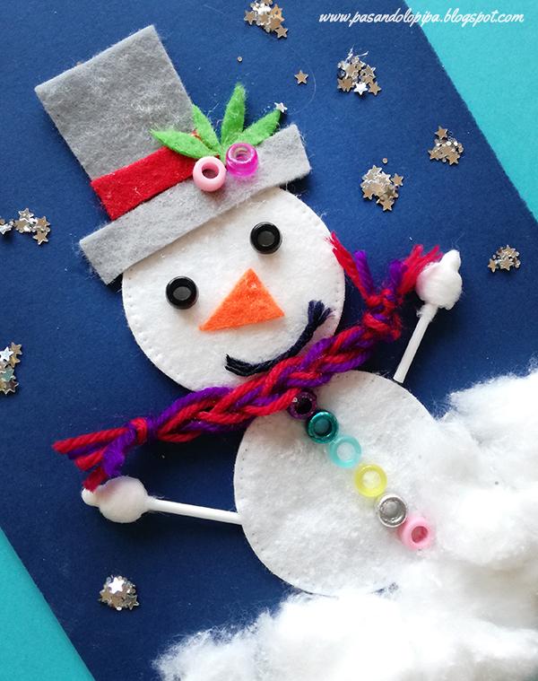 Pasandolopipa mu ecos de nieve una manualidad invernal - Manualidades con discos ...