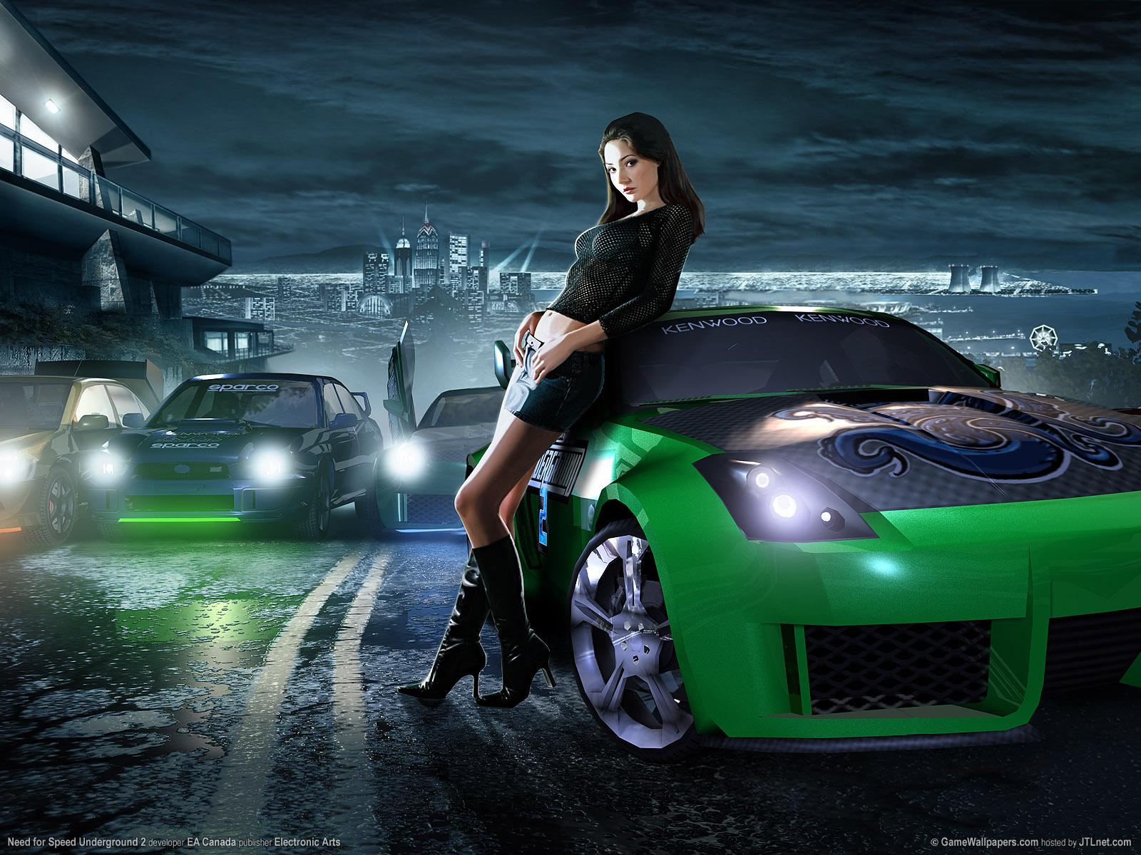 Cars Wallpaper Infront Of Skyline Free Wallpaper Hub Nfs Girl